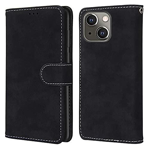 nancencen Kompatibel mit Nokia Lumia 625 Handyhülle,Wallet Karten Slot Vintage Gefrostet Flip Cover Schutzhülle (Anti-Fall) für Nokia Lumia 625 - Schwarz