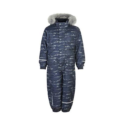 MINYMO Boy Schneeanzug Herringbone w. AOP Ombre Blue 110