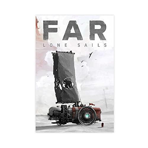 Classico gioco popolare copertina FAR Lone Sails Wall Art Decor Stampa Quadri per Soggiorno Poster Unframe: 50 x 75 cm