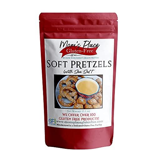 Mom's Place Gluten Free Soft Pretzels with Sea Salt Mix, Soft Pretzel Making Kit