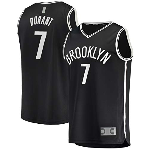 GSDAA Kevin Jersey De Baloncesto Durant Sudadera Brooklyn Traning Jersey Nets Top Sin Mangas #7 Fast Break Jersey Negro - Icon Edition-S