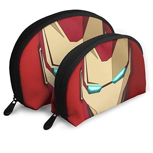 Iron Man Maquillage Sac Sacs De Voyage Petit Sac De Coque Portable Trousse De Toilette Pochette 2 Pcs