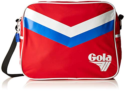 Gola Unisex Redford Retro Chevron Stripes Red Messenger Bag