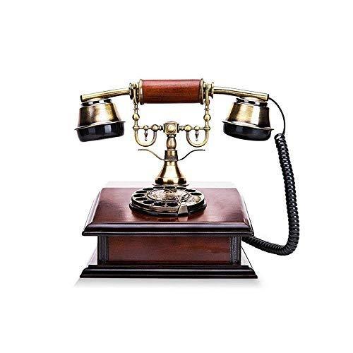 Ldlzjdh Festnetz Telefon- Retro- Festnetzanschluss, Drehknopf aus Metall, dekoriertes Telefon mit Kabelanschluss, geeignet für Studienbüro Festnetz