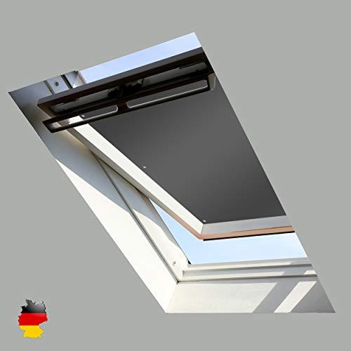Sonnenschutz für Dachfenster | Perfekt für Velux und Roto Fenster | 100% Verdunkelung | Sonnen und UV Schutz | GGU, GPU, GHU, GTU, GXU, GGL, GPL, GHL, GTL, GXL (Grau, 57x100)