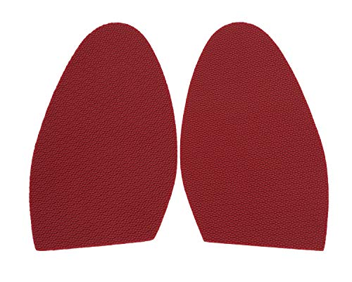 Red Sole Repair Rubber Half Sole Protector - Perfect Color Match to Louboutin Soles (1 Pair)