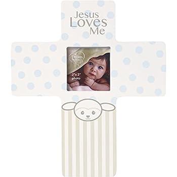 Precious Moments Precious Lamb Jesus Loves Me Cross Photo Frame Boy 163455