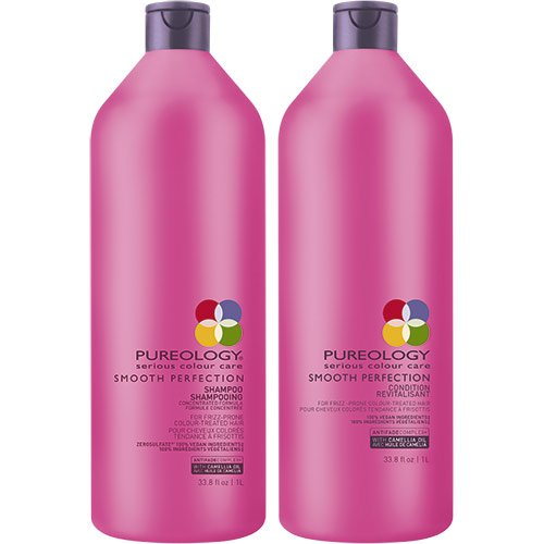 Pureology Smooth Perfection Shampoo, 1000 ml und Pflegespülung, 1000 ml – Duo