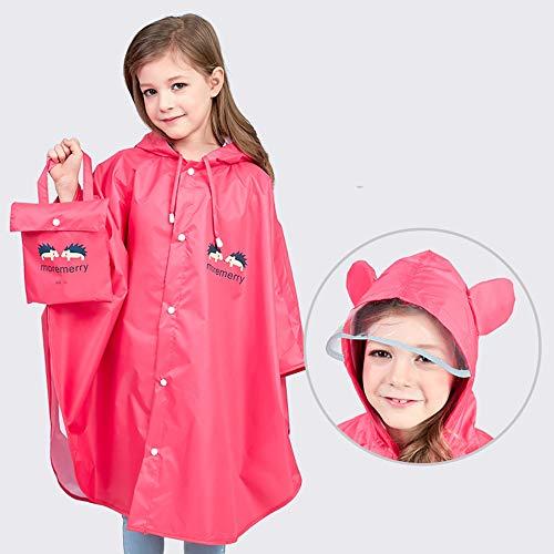 LRTTO Kinderen Regenjas Meisjes Baby Ouder-Kind Poncho Mantel Kleuterschool Kinderen Primaire School Tas School jongen Regenjas