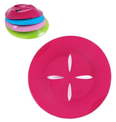 Lifetime Cooking Silikon Abdeckung, Topf Überlaufschutz/Überkochschutz, Aufsatz zum Dampfgaren, Mikrowellenabdeckung (Pink)