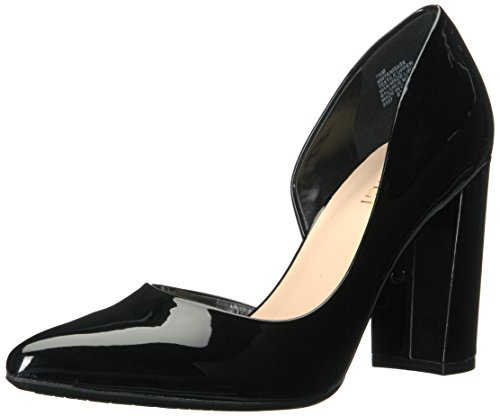 NINE WEST Women's ANISA9X Pump, Black Synthetic, 9 M US