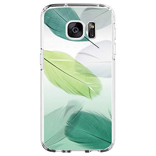 Coque de protection en silicone TPU pour Samsung Galaxy S6 - Ultra fine - Antichoc à 360 ° - Coque souple - Motif - Beige - taille unique