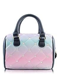 Luv Betsey Johnson Harlee Rainbow Mini Crossbody Satchel Bag - Pastel