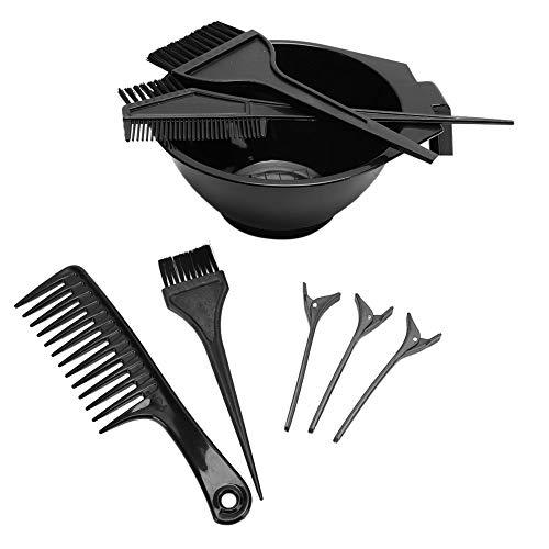 Cadeau de fête des mères 8pcs outil professionnel de coloration des cheveux met en évidence le kit de bol de mélange de colorant de pince à cheveux, kit de coloration de cheveux, bol de tei