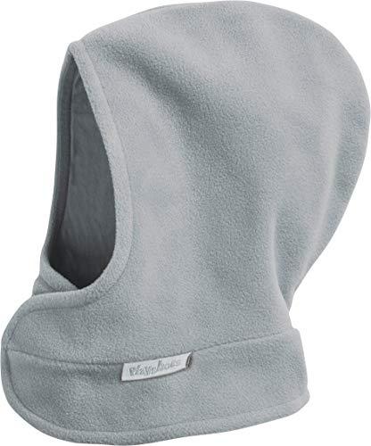 Playshoes Unisex Kinder Fleece-Schalmütze mit Klettverschluß Sturmhaube, grau/Melange, 47/49cm