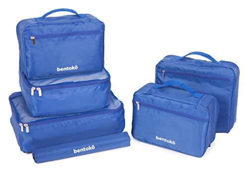 Bentoko 6 Piece Travel Packing Cube Organizer Set (Cobalt Blue)