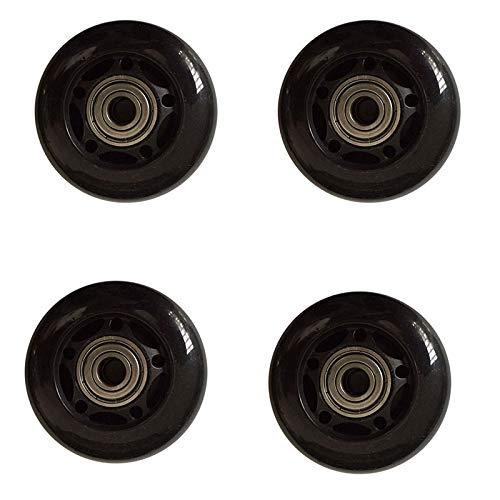 KAPAYONO 4 Teilige Roll Schuhe Gummi RRder Anti-Rutsch Stumm Schaltung Verschleiifeste Roll Schuhe Roll Schuh Zubehhr