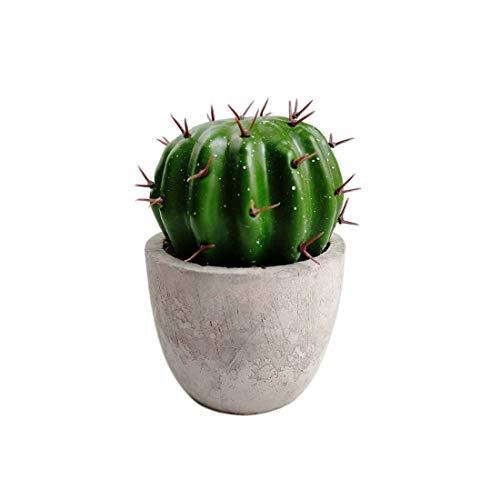 Lorigun Künstliche Kugel Kaktus Töpfe Mini Gefälschte Pflanzen Topf Künstliche Kaktusfeige im Mini Topf Süße Pflanze Knolliger Kaktus, natürliche und einfache Stile für Heimbüro Dekoration