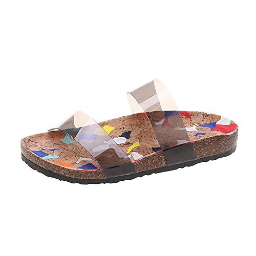 WENHUA Zapatillas de Masaje Sra. Flip, Black_37