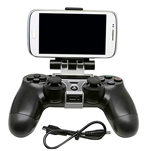 Handyhalterung für Playstation-4-Gamepad-Controller mit Clip, für PS4/PRO/SLIM, Weiß