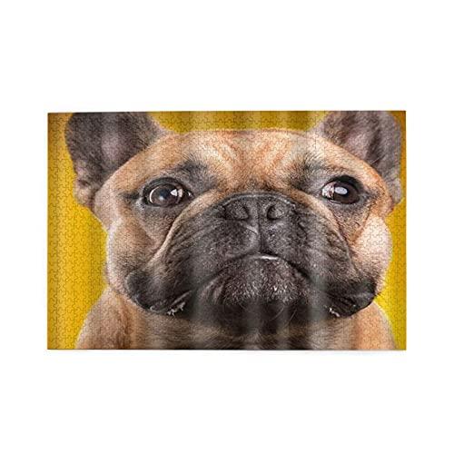 GKGYGZL Puzzle da 1000 Pezzi,Cucciolo di Bulldog Francese Tema Cane Carino,Family Large Puzzle Game Opera d'Arte per Adulti,Ragazzi,Bambini