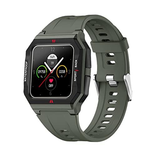 B Blesiya Reloj Inteligente Bluetooth FT10 para teléfonos Android y teléfonos iOS Seguimiento de Actividad Contador de Pasos App recordatorio de Mensaje IP68 - Verde