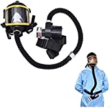 HIMFL Full Face Gas Mask Electric Ventilative Biochemical Protectio Widely Used in Organic Gas,Paint spary, Chemical,Woodworking,Dust Protectio