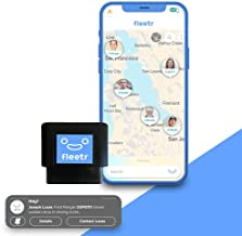FLEETR GPS Tracker for Vehicles - Car Tracker for Kids, Family, Business - Real Time OBD Tracking Device for Cars Vans Trucks Fleet - Car Security Driver Safety Monitoring - USA Support