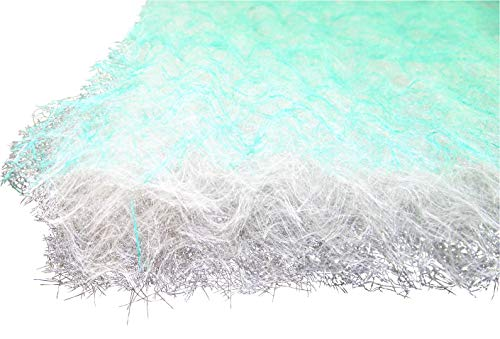 Vorfilter Filter 1m x 20m Filtermaterial Dicke ca. 70mm für Lackierung Farbnebel Paintstop Bodenfilter Grün-Weiße Filtematte