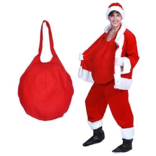 STOBOK Cosplay Babbo Natale Falso Costume Prop Pancia Festa Spettacolo Scena Natale