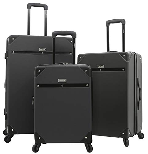 kensie 3 Piece Carroll Luggage Set, Midnight Black