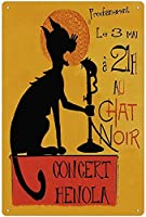 RCY-T Black Cat Singing Poster ブリキサイン Vintage Bar Club Cafe Family Bathroom Restaurant Wall Decoration 8x12 Inches Vintage Gift