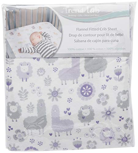 Trend Lab Llama Friends Deluxe Flannel Fitted Crib Sheet