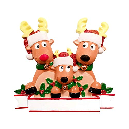 ckground Antiker Elch hängen Mini Resin Weihnachtsanhänger für Ferienhaus Anpassung Party DIY Dekoration. (2 bis 7 Familienmitglieder).