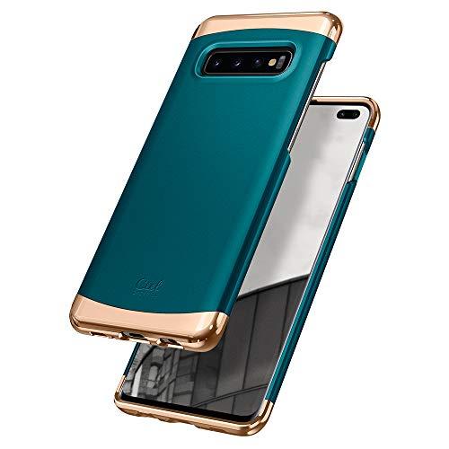 CYRILL Colene kompatibel mit Samsung Galaxy S10 Plus Hülle, (2019) (6,4 Zoll) Hart PC Cover Zweiteilige Struktur - Metallic Grün