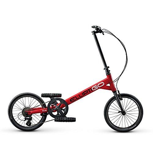 ElliptiGO SUB Outdoor Stand Up Bike and Best Hybrid Indoor Exercise Trainer, Red