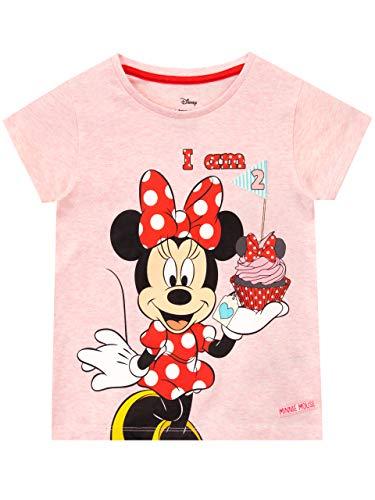 Disney Camiseta para Niñas Minnie Mouse Rosa 18-24 Meses