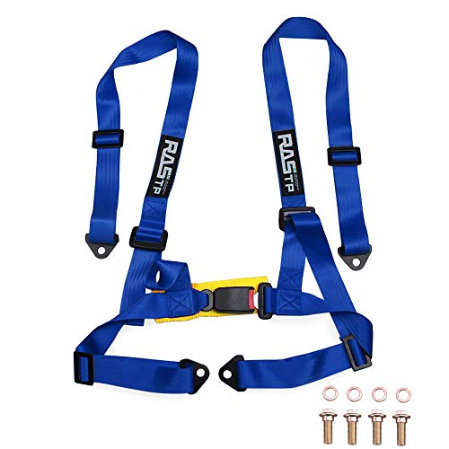 """RASTP 4 Point Racing Safety Harness Set with 2"""" Straps for..."""