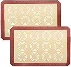 DIRECT FROM FACTORY Silicone Baking Mat (Pack of 2) - 16.5 x 11.5 inches, Reusable Baking Mat for Cookies, Macarons, Pastry, Bread - Non-Stick Silicon Sheet, Dough Liner for Standard Baking Trays