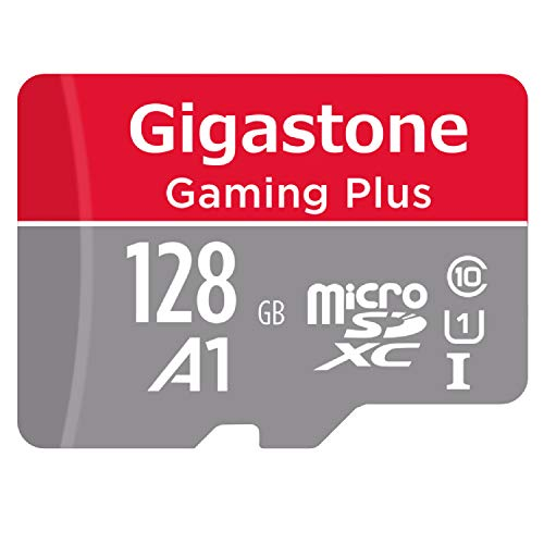 Gigastone 128GB Micro SD Card, Gaming Focus, A1 U1 C10 Class 10, Full HD Available, Micro SDXC UHS-I Memory Card with Adapter