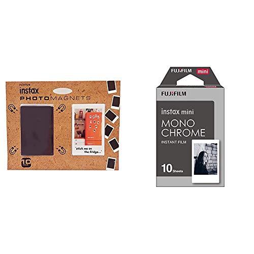 Fujifilm Instax 70100131480 Calamite per Frigorifero, Confezione da 10 Pezzi, Multicolore & Mini 16531958 Pellicola Istantanea Monochrome, 10 Pose, Bianco