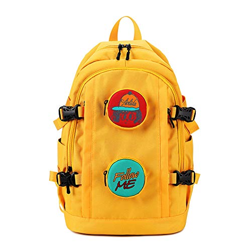 Hanggg Vrouwenreis-computertas van de vrouwelijke tas buitenshuis vrouwelijke, willekeurige rugzak van de middelschooltas 17 Zoll geel