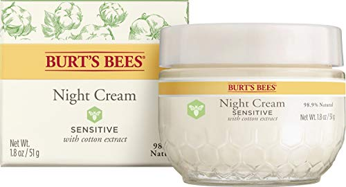 Burt's Bees Night Cream, Sensitive, 1.8 Oz