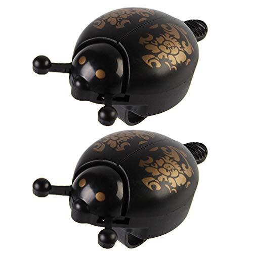 VOSAREA 2 Piece Cute Ladybird Metal Bell Adorable Alarm Bell for Road Bike Mountain Bike Children