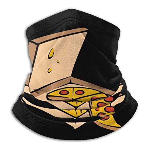 Pizza Pie Calentador de Cuello Polaina Bufanda Tocado de Cuello Clima frío Bufanda a Prueba de Viento Turbante
