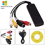 USB 2.0 Video Audio Capture Card Device Adapter VHS VCR TV to DVD Converter Support Win 2000/Win Xp/Win Vista/Win 7/Win 8/Win 10