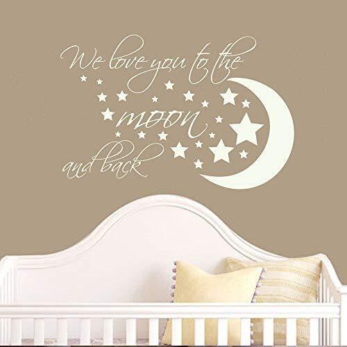 hetingyue kleuterschool vinyl stickers wandsticker decoratie waterdicht maan en sterren
