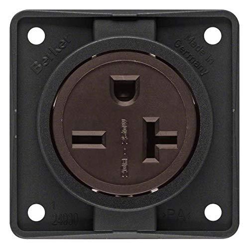 Hager INTEGRO Steckdose Strom Usa/Canada Nema 6–20R schwarz matt