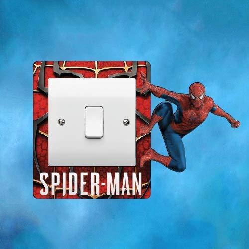 ELITEPRINT - Pegatina para interruptor de luz envolvente, pegatina para dormitorio para niños y niñas, diseño de Spiderman
