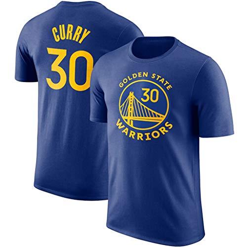 JNTM Uomo NBA T-Shirt Golden State Warriors # 30 Fan Classic Maglia Traspirante Athletics Estate Allentato Tee per I Giovani Stephen Curry-M